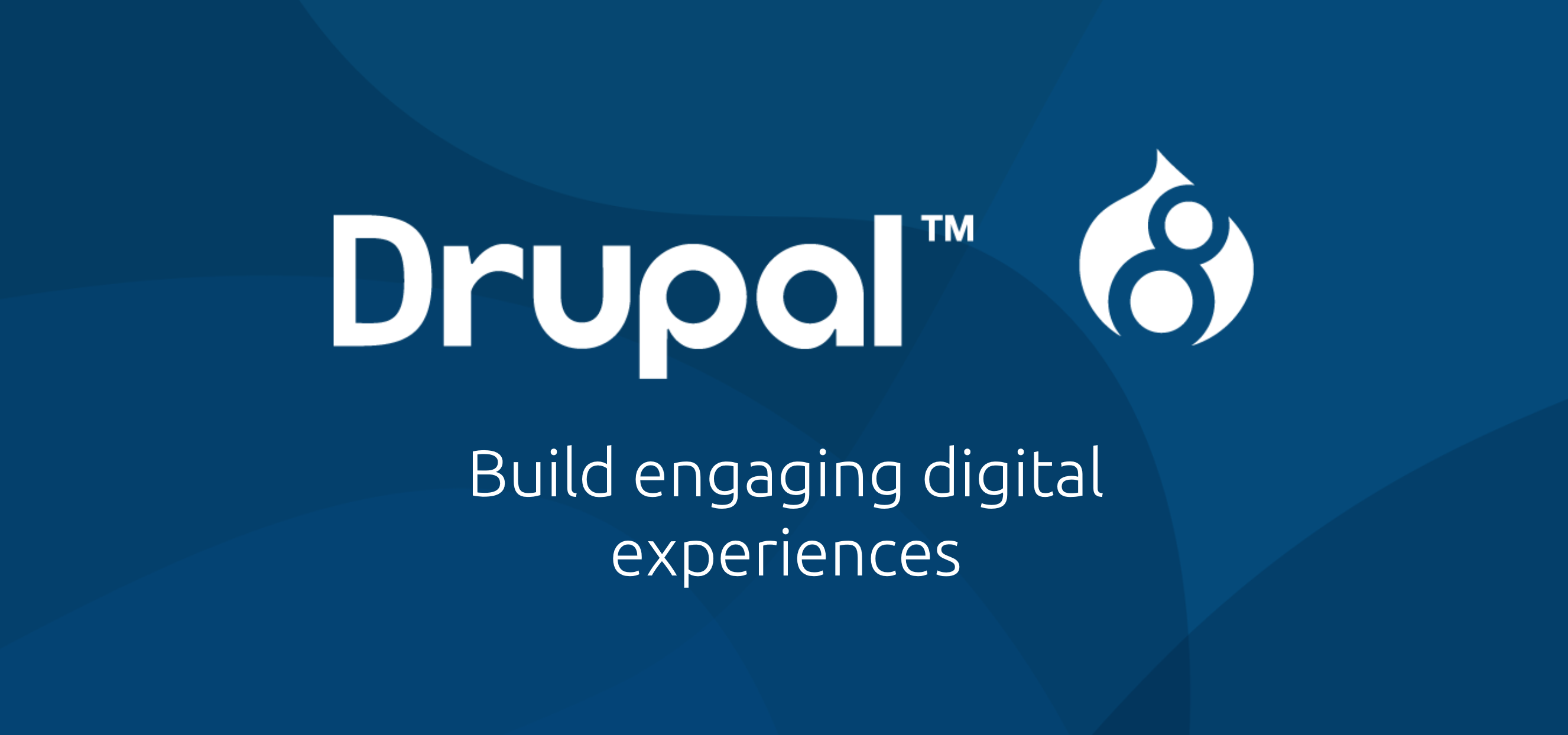 Drupal logo and tagline