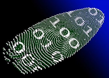 High tech image of a fingerprint