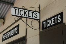 Photo of signs that read Tickets